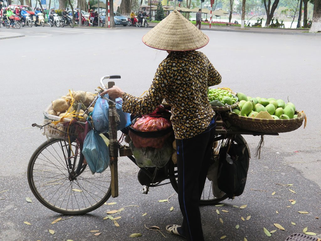 Fruit store on wheels - Hanoi