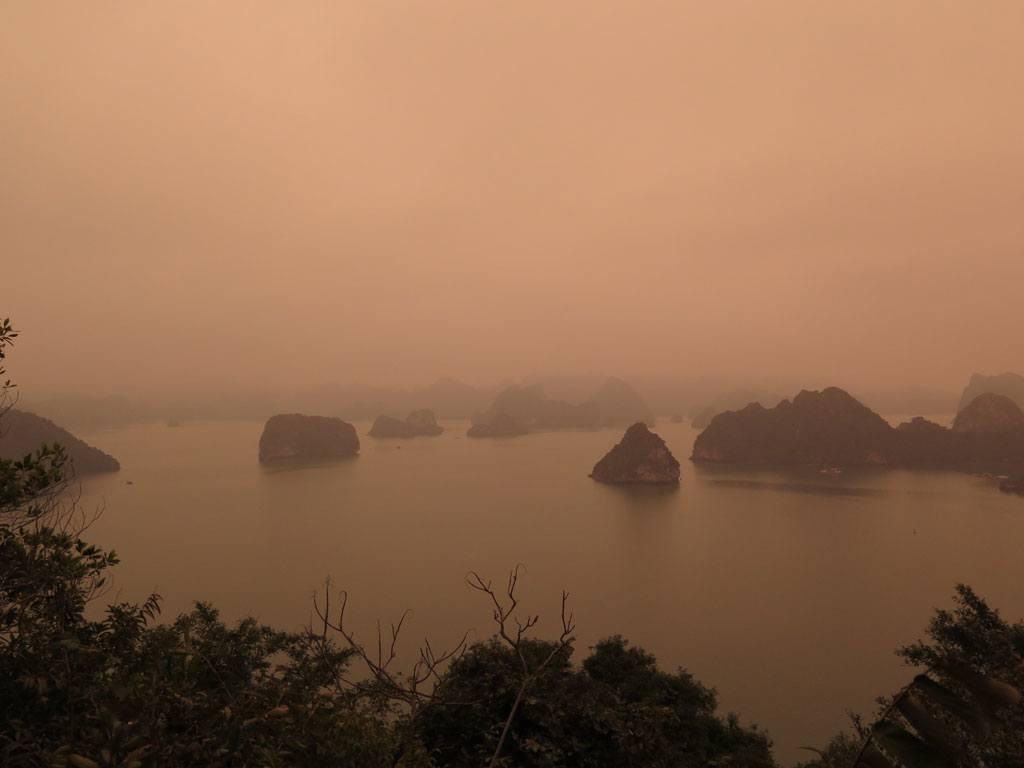 Foggy Ha Long Bay